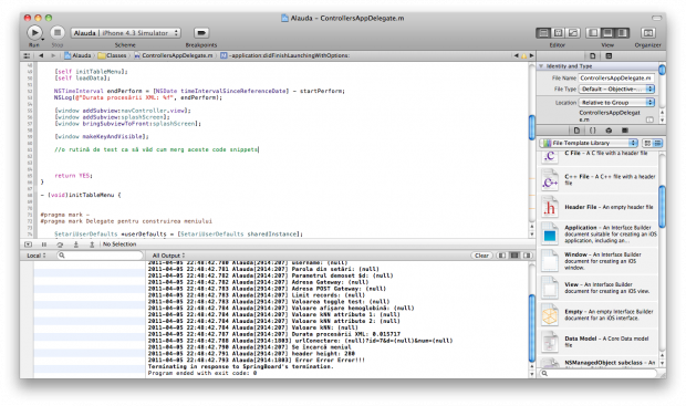 XCode 4 Workspace Window – hide Project Navigator (cmd + 0)