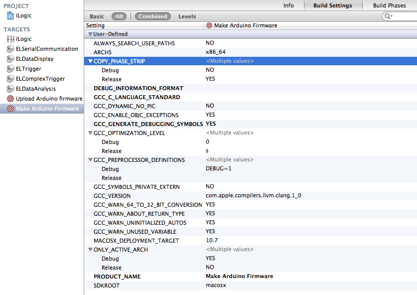 What if you want to delete some build settings from your custom XCode target ? Read the text to see how.