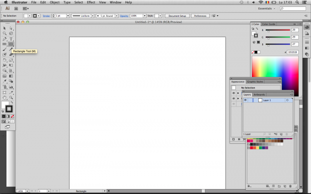 Rectangle tool in Illustrator