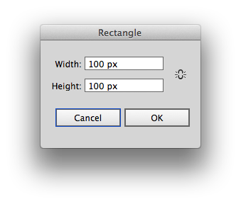 Rectangle tool options