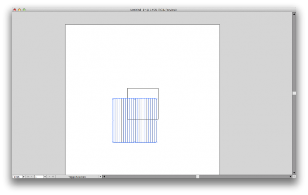Vertical grid done with Rectangular Grid Tool in Illustrator