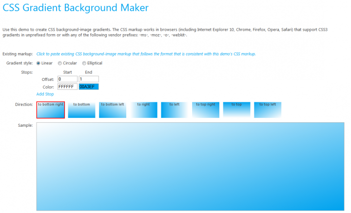 CSS generators — CSS Gradient Background Maker
