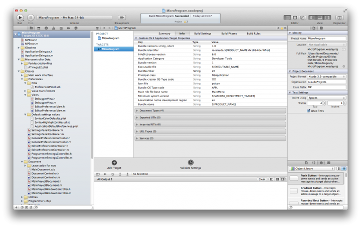 XCode 4.6 main window