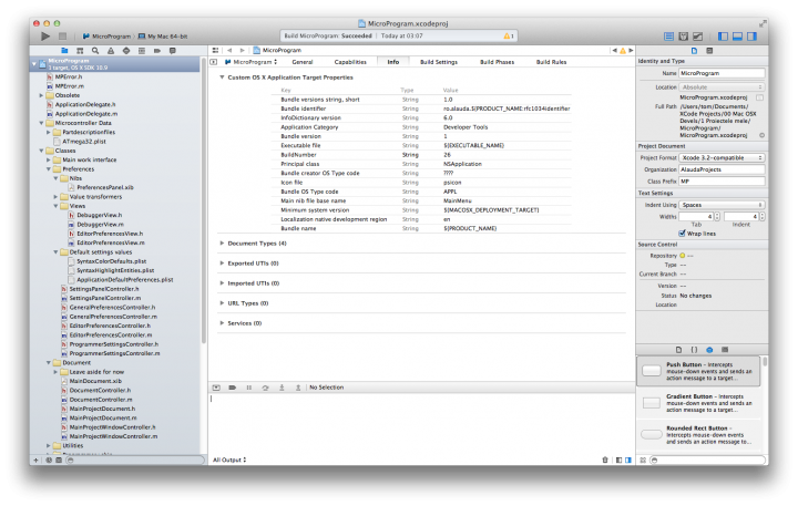 XCode 5.0 preview, main window