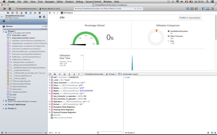 CPU Gauge, XCode 5.0 preview edition