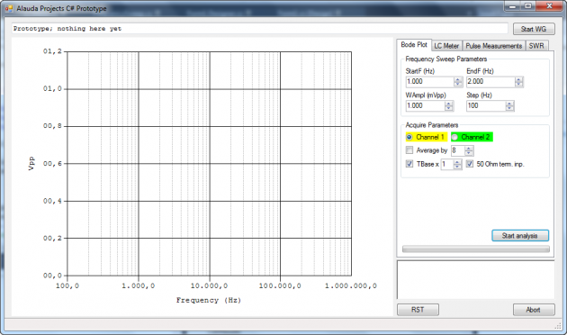 My C# SCPI prototype application — used to control my Agilent scope. So far so good.